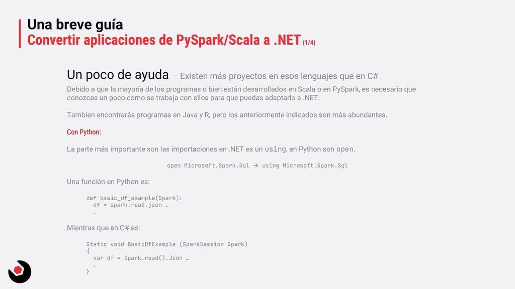 Una breve guía Convertir aplicaciones de PySpar...