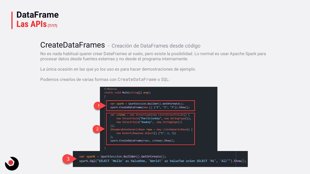 DataFrame Las APIs(7/17) No es nada habitual qu...