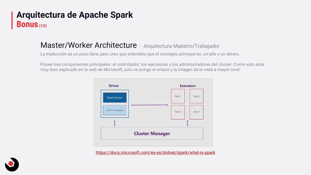 Arquitectura de Apache Spark Bonus(1/2) La trad...