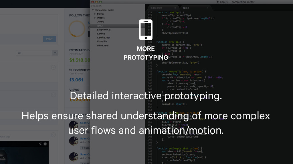 110  MORE PROTOTYPING Detailed interactive prot...
