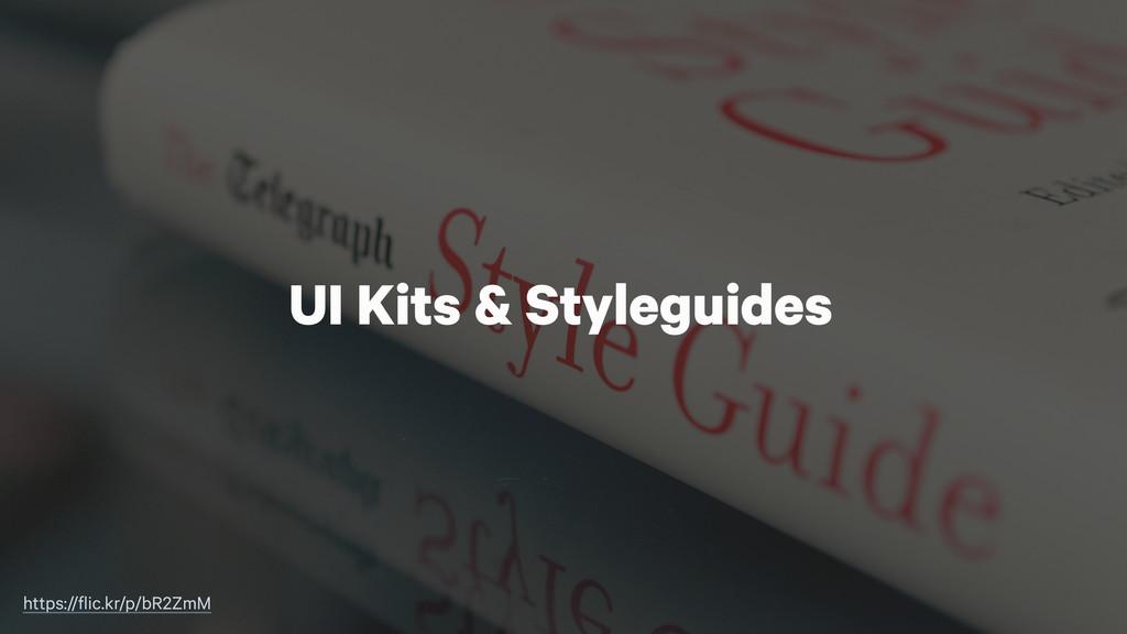UI Kits & Styleguides https://flic.kr/p/bR2ZmM