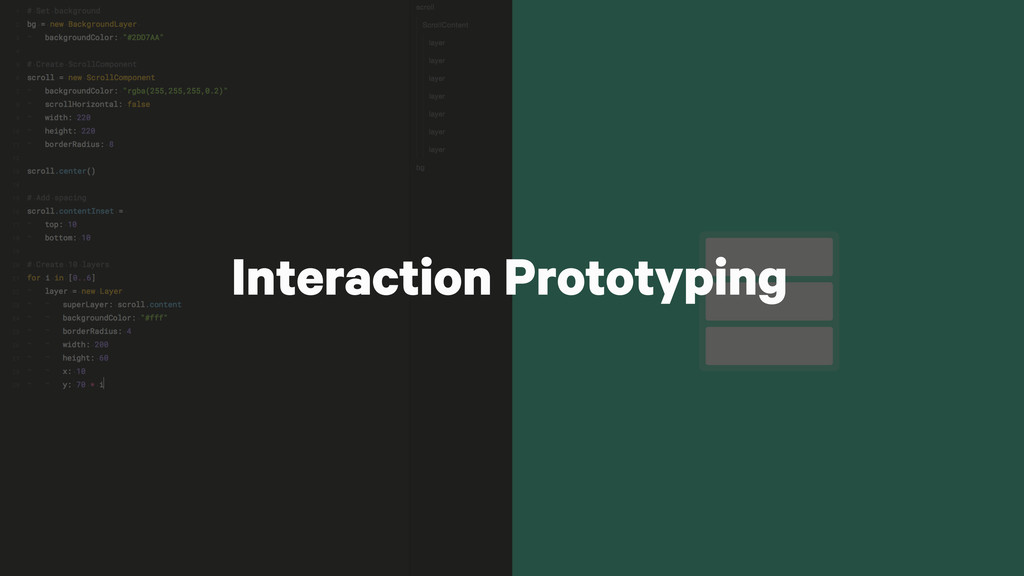 Interaction Prototyping