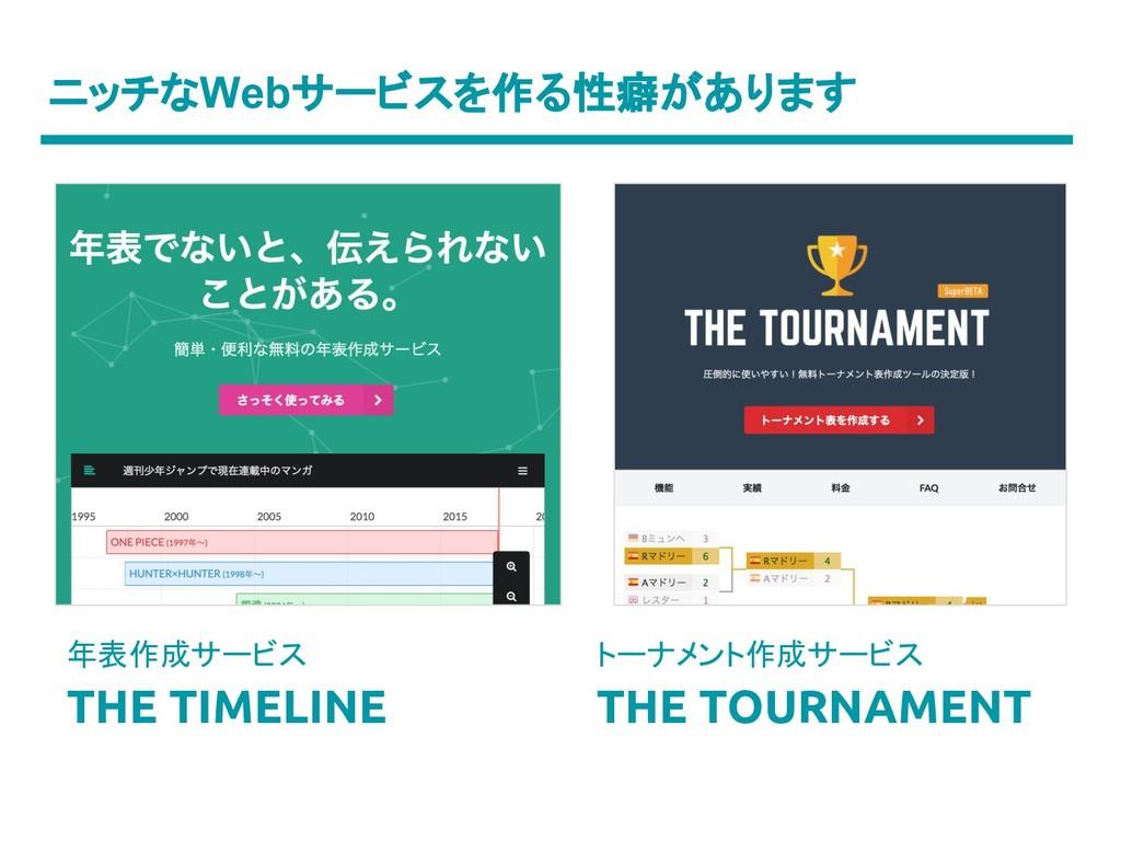 ニッチなWebサービスを作る性癖があります トーナメント作成サービス THE TOURNAME...