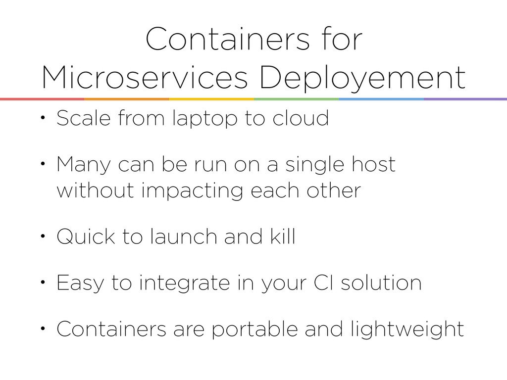 Containers for Microservices Deployement • Scal...