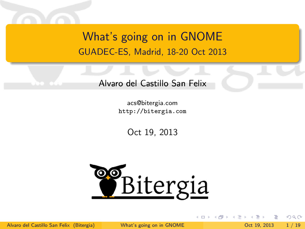 What's going on in GNOME GUADEC-ES, Madrid, 18-...