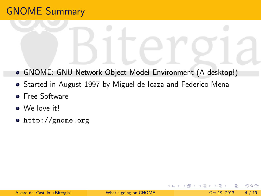 GNOME Summary GNOME: GNU Network Object Model E...
