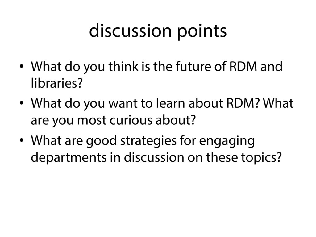 discussion points •  What do you think is the f...