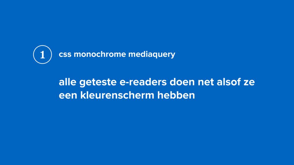 css monochrome mediaquery alle geteste e-reader...