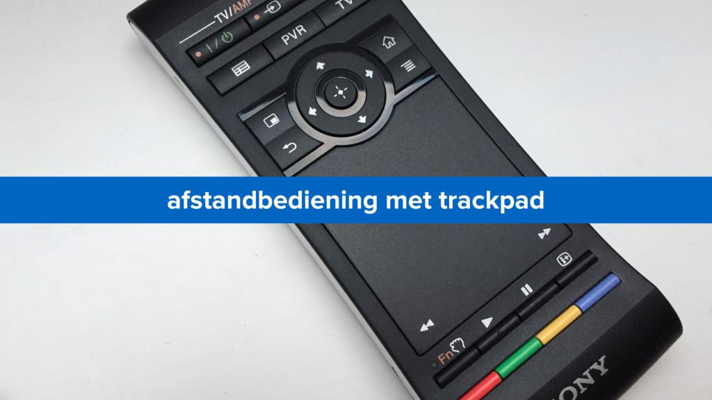 afstandbediening met trackpad