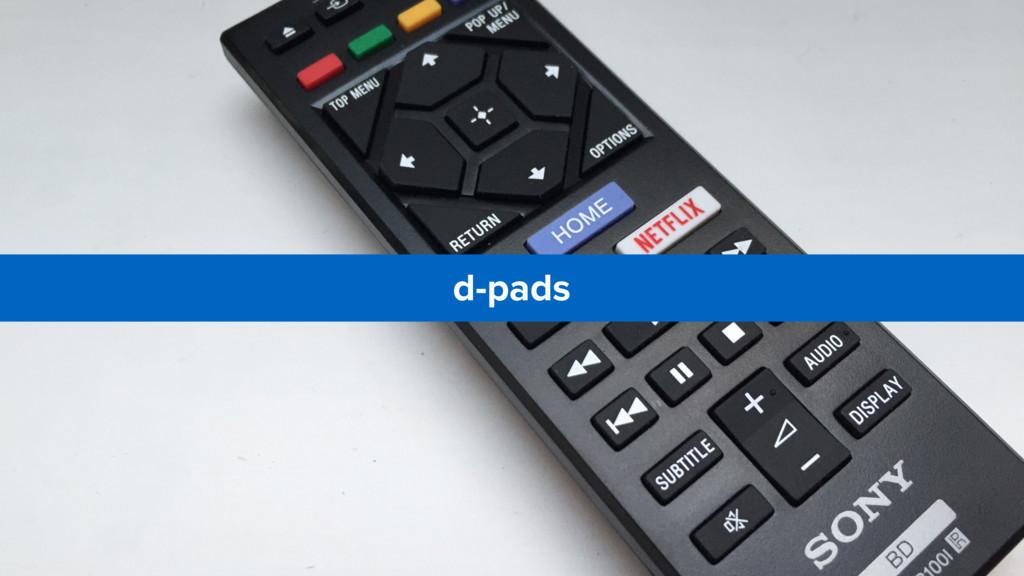 d-pads