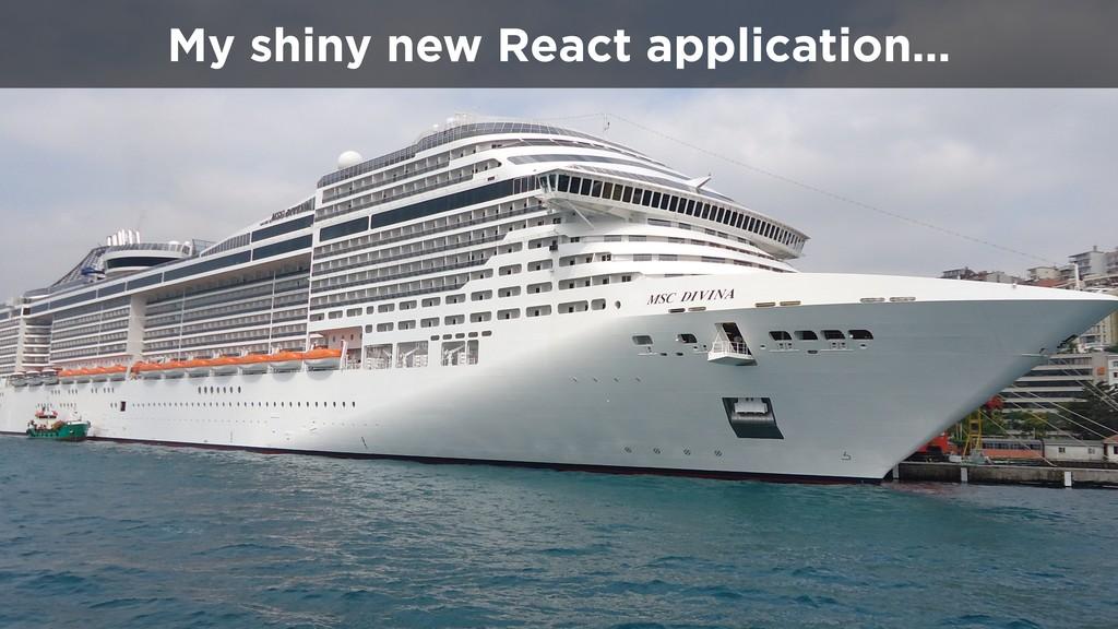 My shiny new React application…