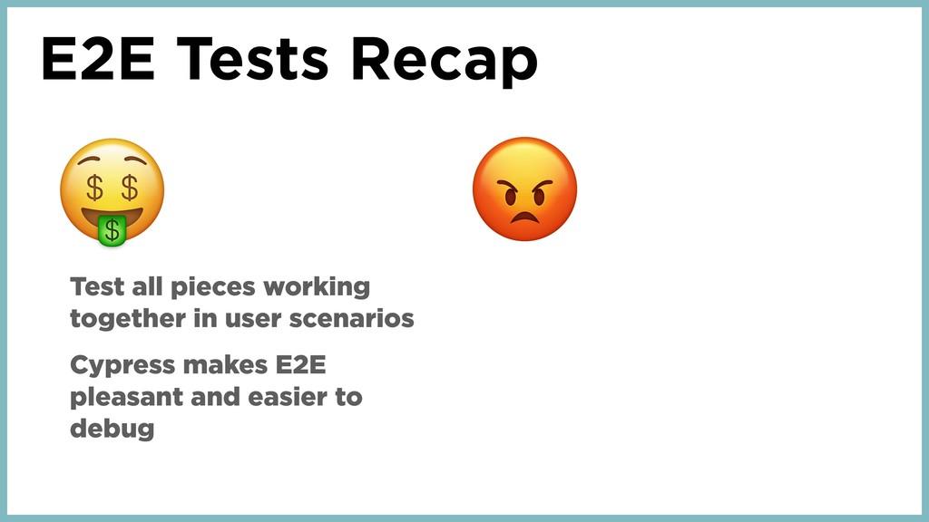 E2E Tests Recap Test all pieces working togethe...