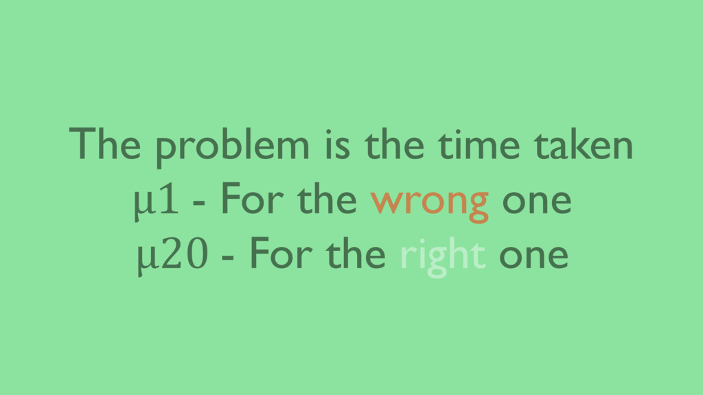 The problem is the time taken μ1 - For the wron...
