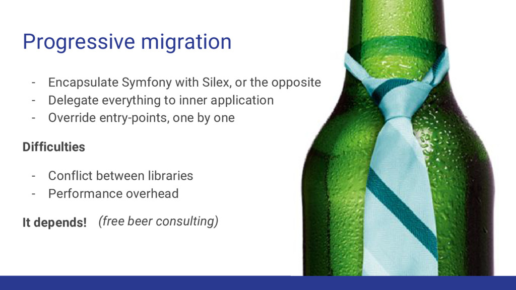 Progressive migration - Encapsulate Symfony wit...