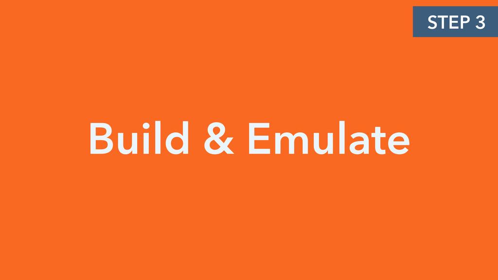 Build & Emulate STEP 3