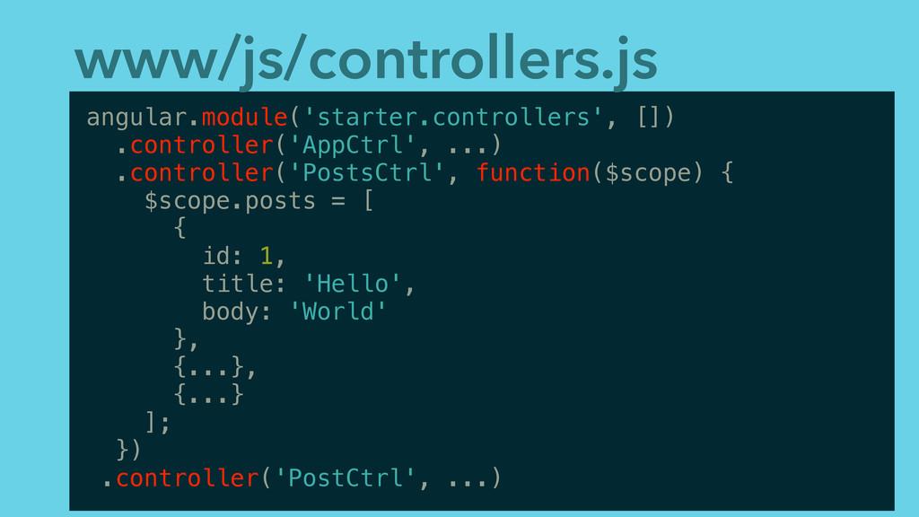 www/js/controllers.js angular.module('starter.c...