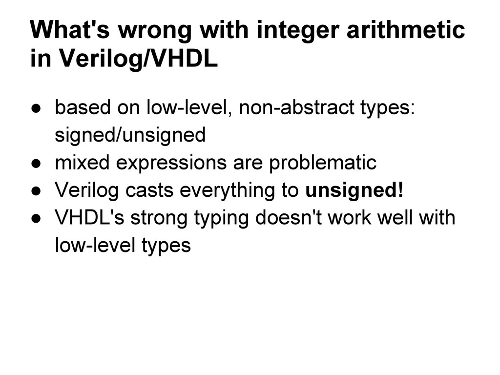 What's wrong with integer arithmetic in Verilog...