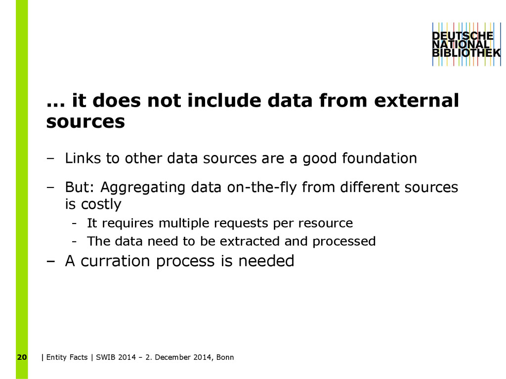 ... it does not include data from external sour...
