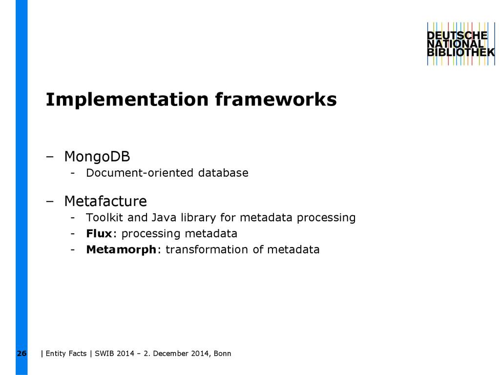 26 Implementation frameworks – MongoDB - Docume...