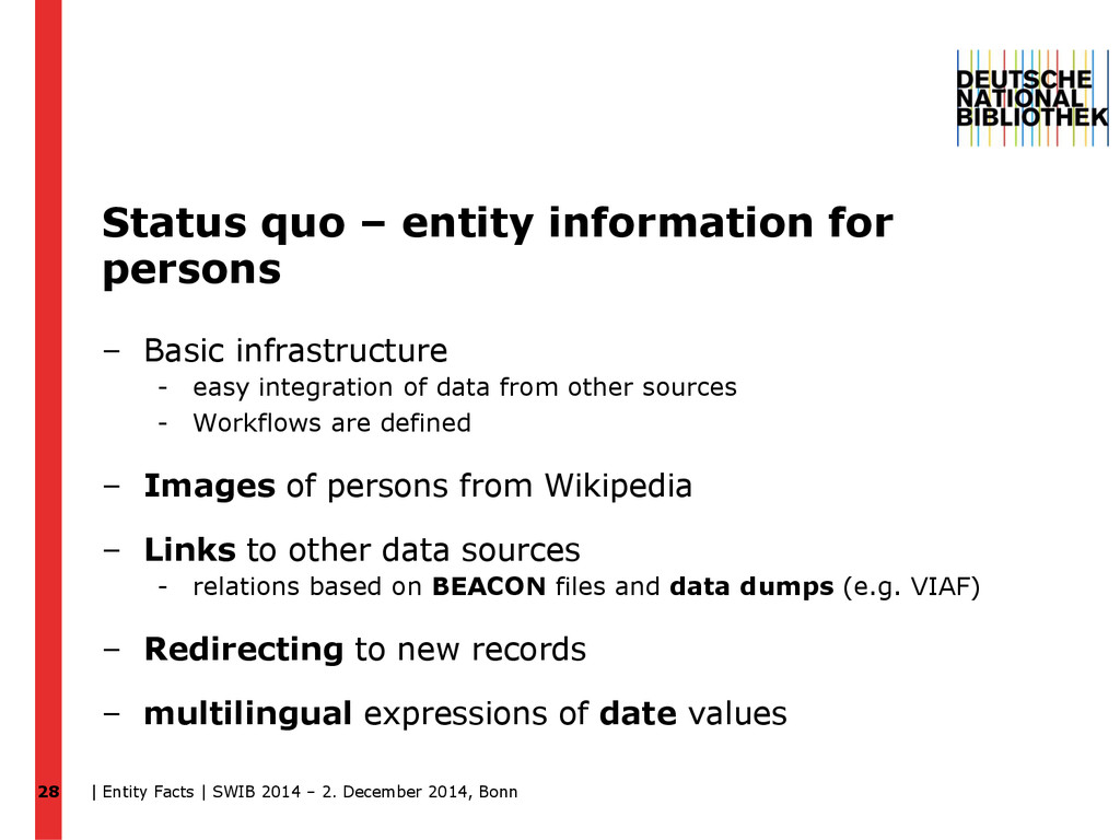 Status quo – entity information for persons – B...