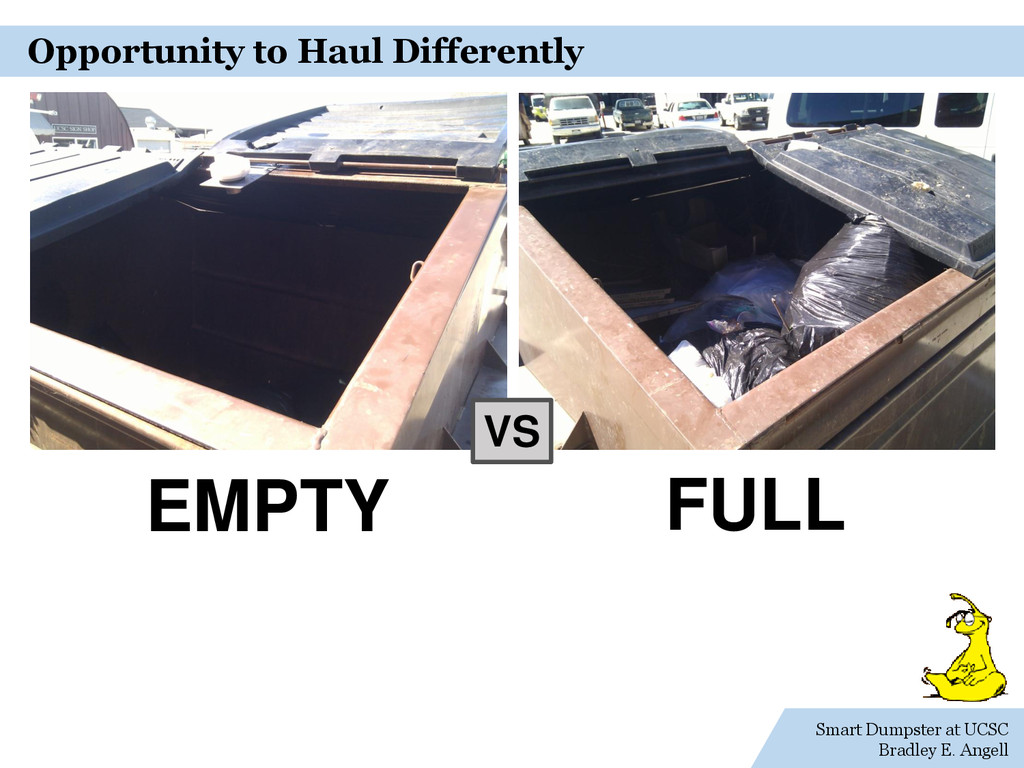 Smart Dumpster at UCSC Bradley E. Angell Opport...