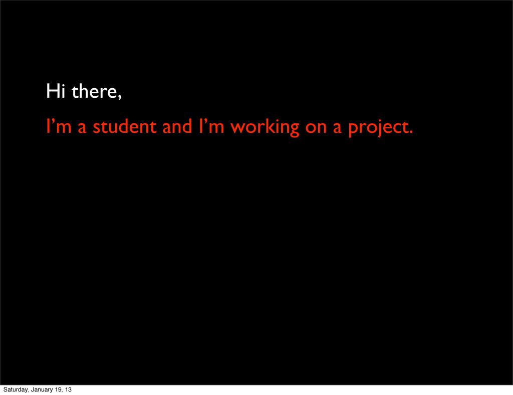 Hi there, I'm a student and I'm working on a pr...
