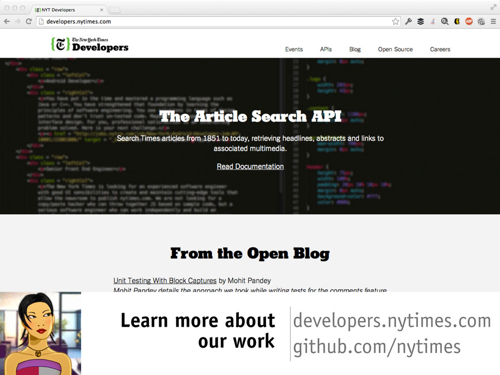 Learn more about our work developers.nytimes.co...