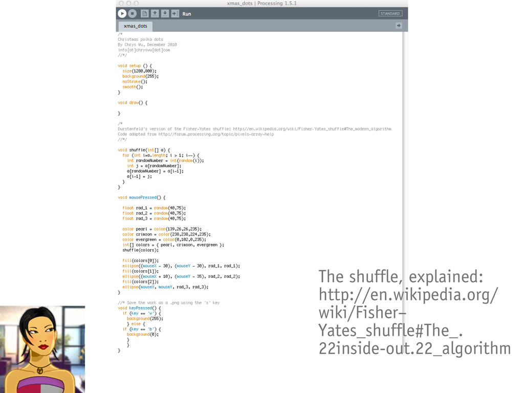 The shuffle, explained: http://en.wikipedia.org...