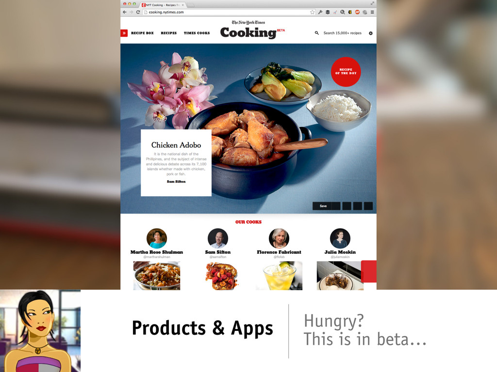 Products & Apps Hungry? This is in beta…