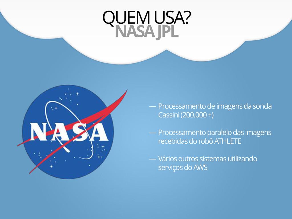 QUEM USA? NASA JPL — Processamento de imagens d...