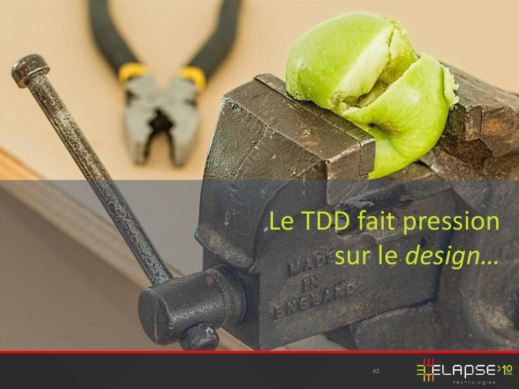 42 Le TDD fait pression sur le design…