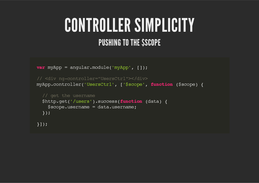 CONTROLLER SIMPLICITY PUSHING TO THE $SCOPE v a...