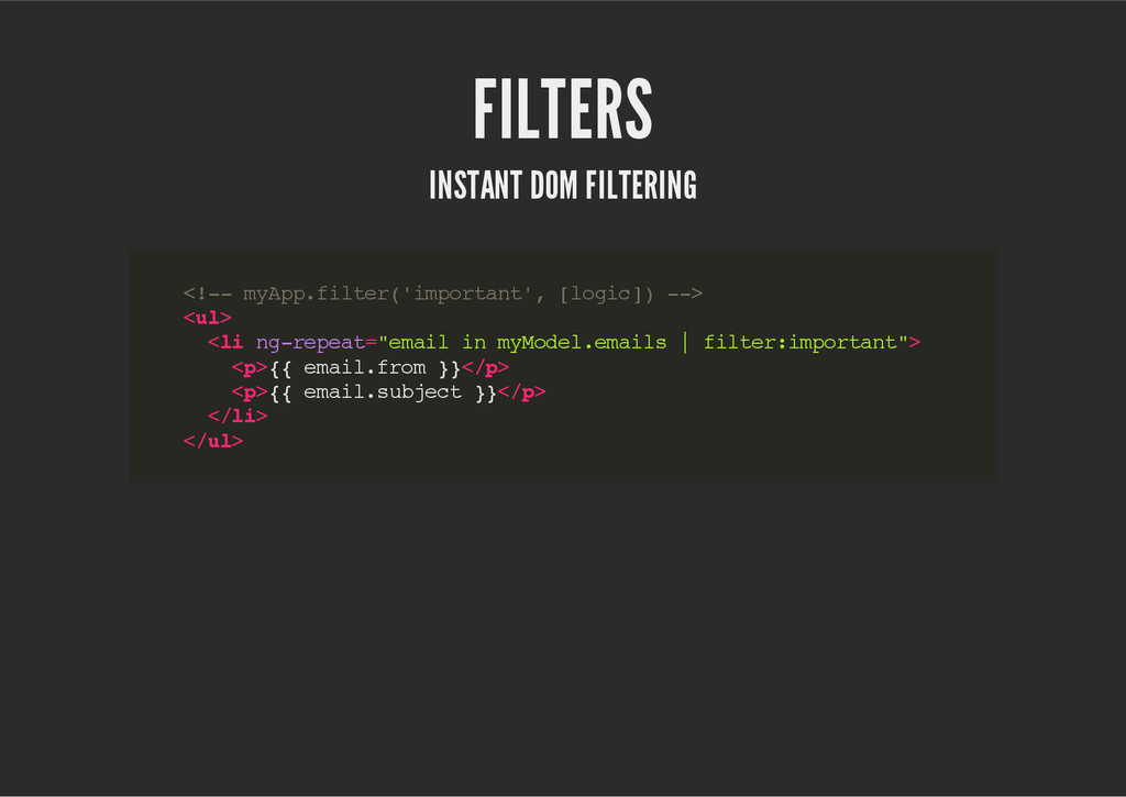 FILTERS INSTANT DOM FILTERING < ! - - m y A p p...