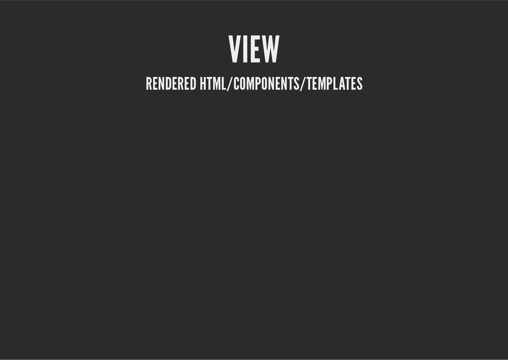 VIEW RENDERED HTML/COMPONENTS/TEMPLATES