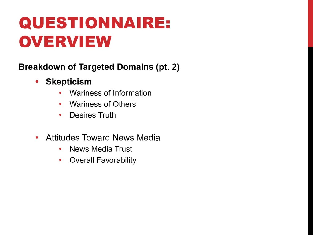 QUESTIONNAIRE: OVERVIEW Breakdown of Targeted D...