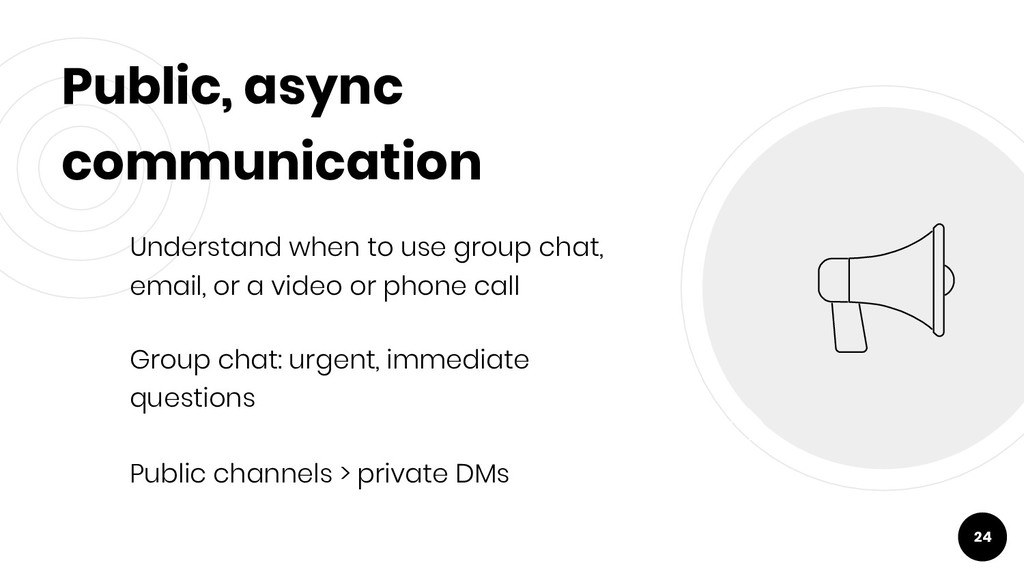 Public, async communication Understand when to ...