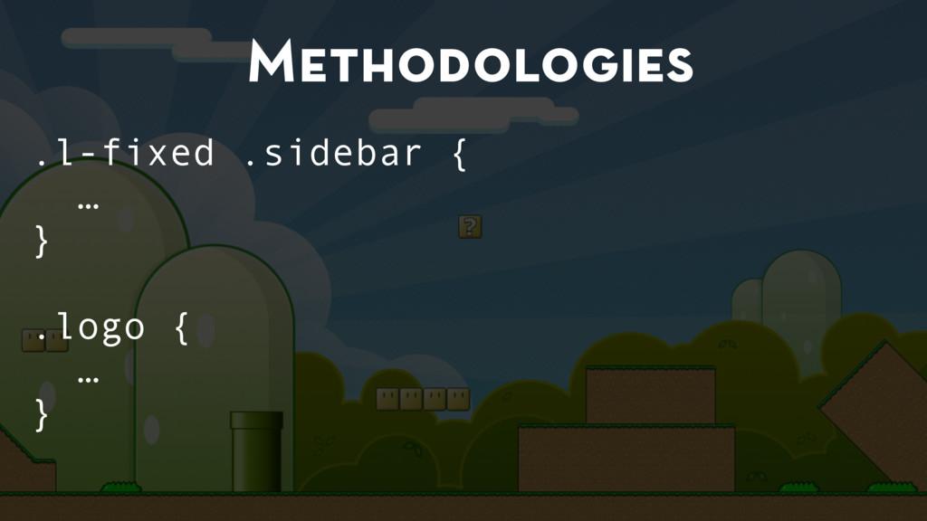 Methodologies .l-fixed .sidebar { … } .logo { …...