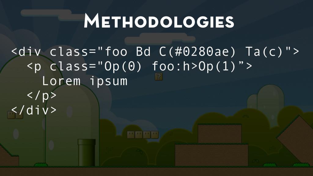 """Methodologies <div class=""""foo Bd C(#0280ae) Ta(..."""