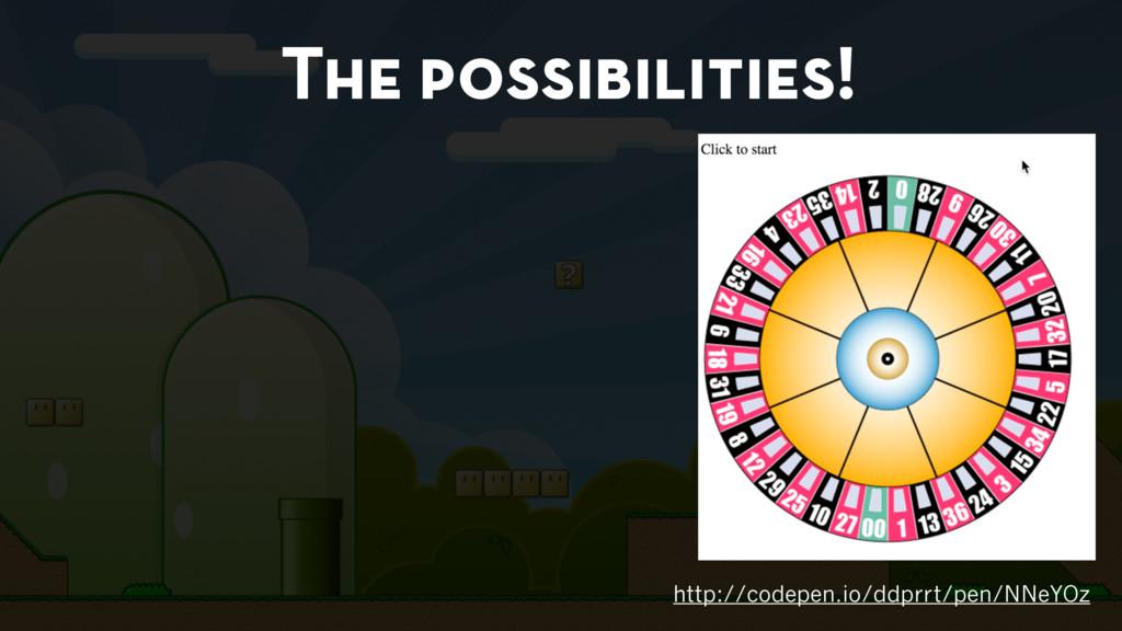 The possibilities! http://codepen.io/ddprrt/pen...