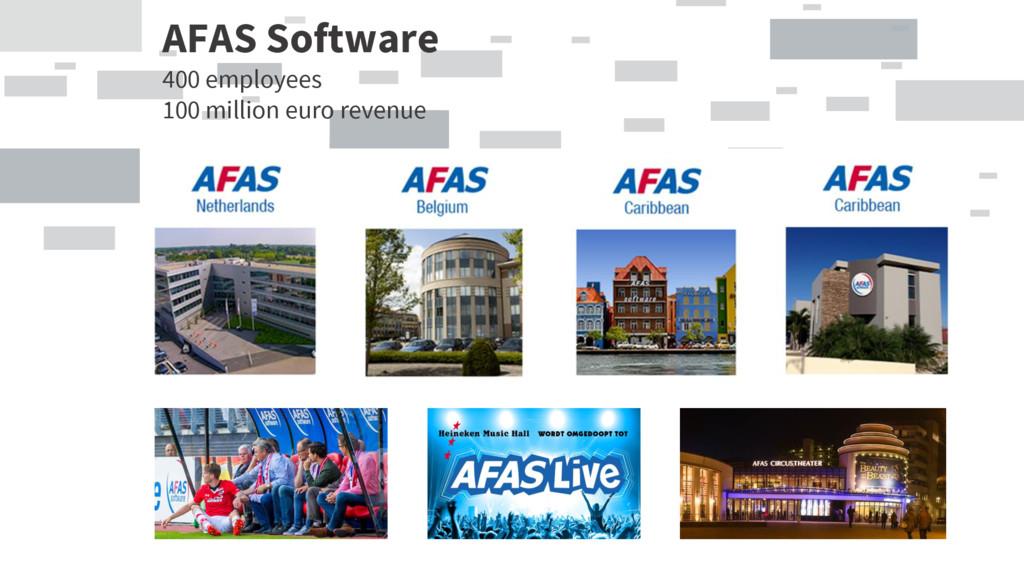 AFAS Software 400 employees 100 million euro re...