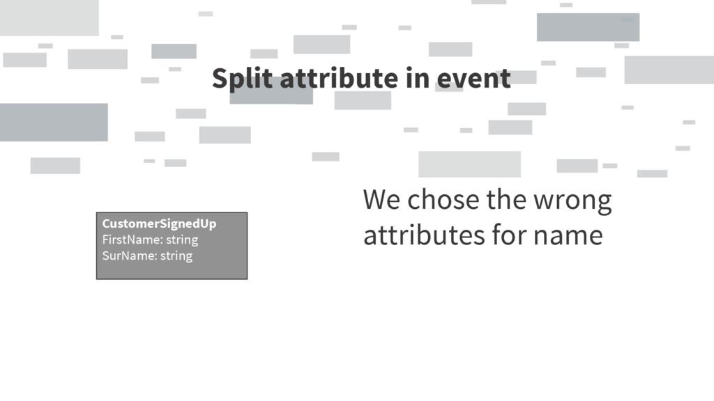Split attribute in event CustomerSignedUp FullN...