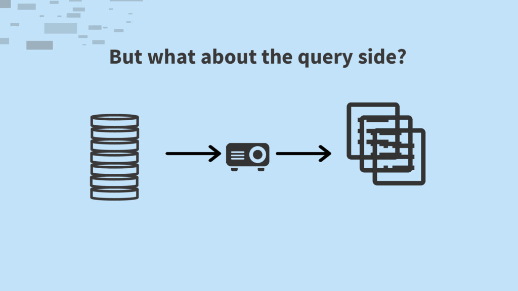 But what about the query side?