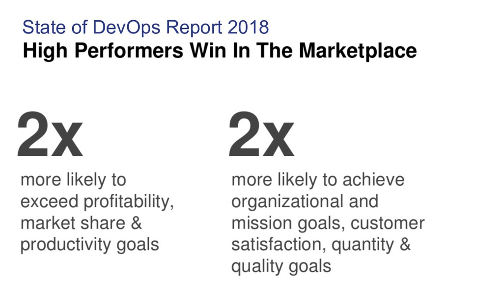 State of DevOps Report 2018