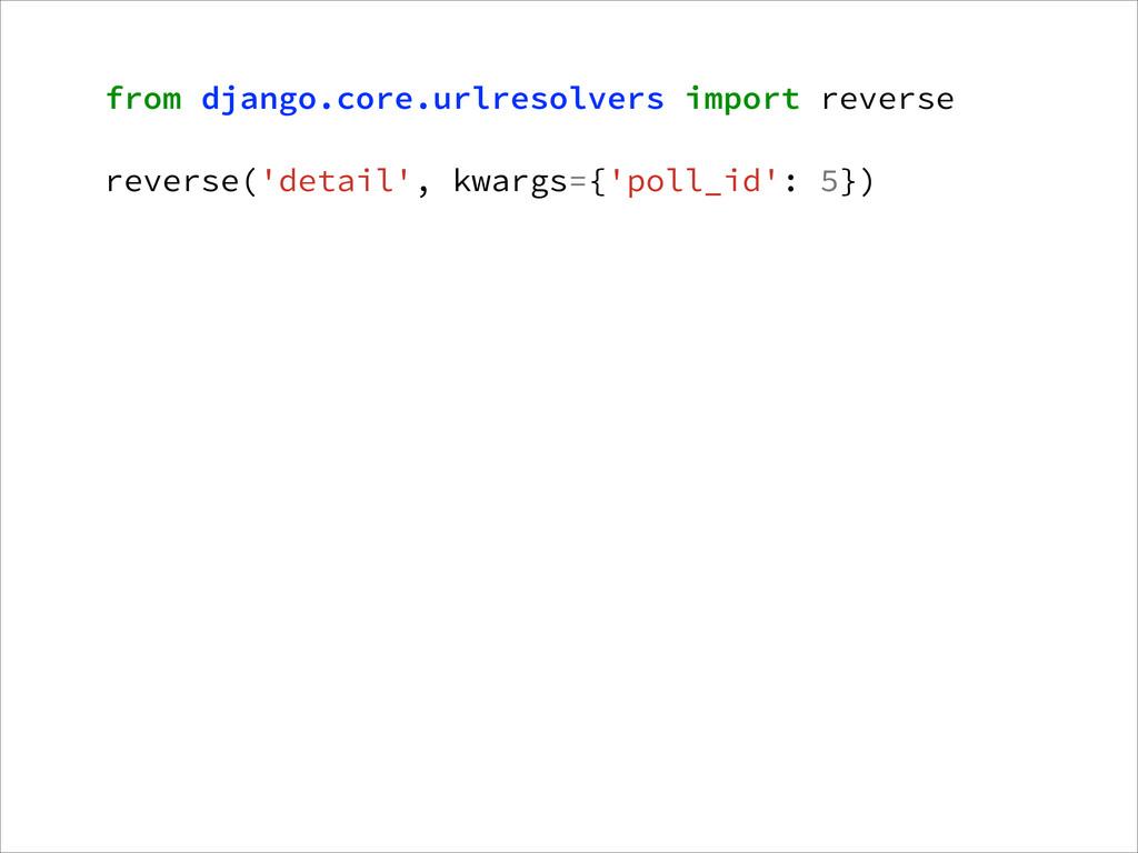 from django.core.urlresolvers import reverse ! ...
