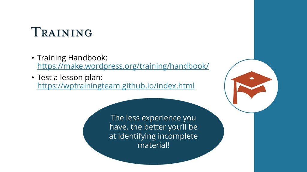 Training • Training Handbook: https://make.word...
