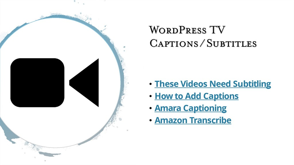 WordPress TV Captions / Subtitles • These Video...