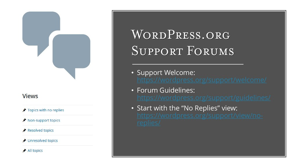 WordPress.org Support Forums • Support Welcome:...