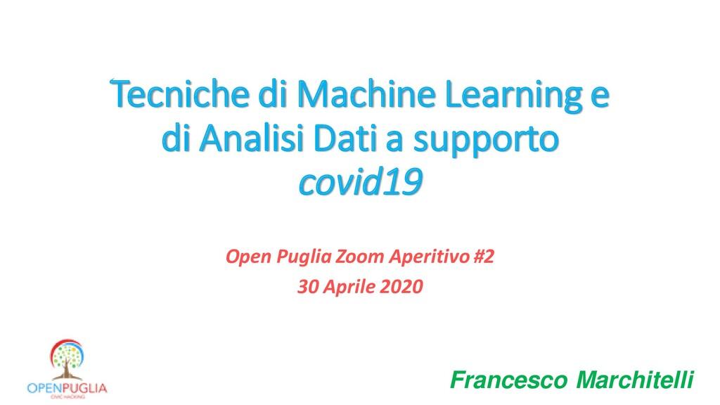 Tecniche di Machine Learning e di Analisi Dati ...
