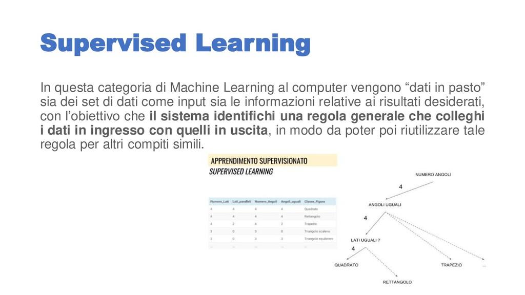 Supervised Learning In questa categoria di Mach...