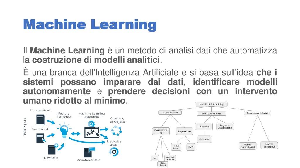 Machine Learning Il Machine Learning è un metod...